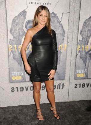 Slide 10 of 55: LOS ANGELES, CA - APRIL 04:  Actress Jennifer Aniston attends the season 3 premiere of 'The Leftovers' at Avalon Hollywood on April 4, 2017 in Los Angeles, California.  (Photo by Jason LaVeris/FilmMagic)