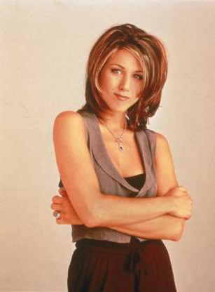 Slide 5 of 63: Promotional portrait of American actor Jennifer Aniston for the television series, 'Friends,' c. 1995. (photo by NBC Television/Getty Images)