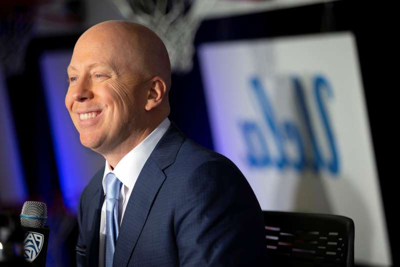 UCLA coach Mick Cronin speaks during the Pac-12 NCAA college basketball media day in San Francisco, Tuesday, Oct. 8, 2019. (AP Photo/D. Ross Cameron)