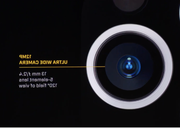 a close up of electronics: They have three rear cameras with 4x optical zoom -- wide, ultra-wide, telephoto lenses.