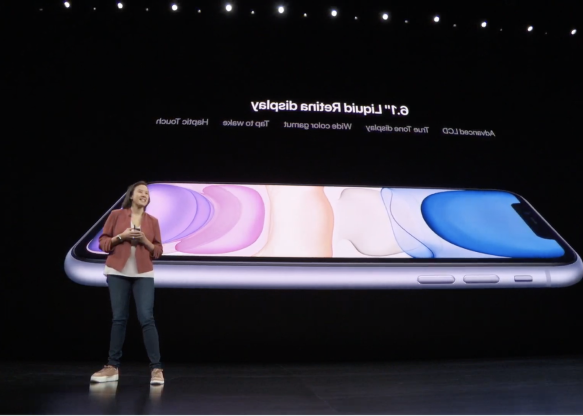 a screen shot of a person: It has a 6.1-inch Liquid Retina display.