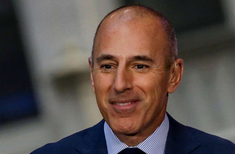 Former NBC 'Today' show host Matt Lauer is seen on the set of the 'Today' show in New York, U.S., August 29, 2014. Picture taken August 29, 2014.  REUTERS/Brendan McDermid