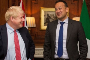 Johnson and Varadkar see 'pathway' to Brexit deal after talks