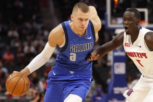 Kristaps Porzingis: 'It felt natural' being back on the court for first time since ACL tear