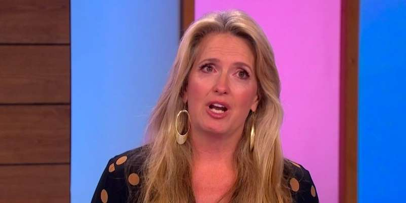 Penny Lancaster smiling for the camera: Loose Women's Penny Lancaster in tears on air as speaks about Rod Stewart's cancer.