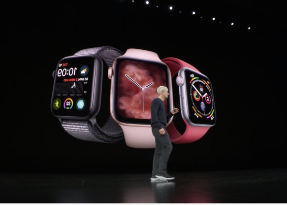 The Apple Watch Series 5 was announced, offering a new always-on screen.
