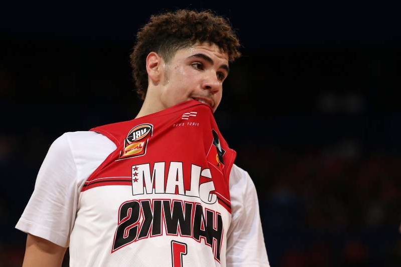 PERTH, AUSTRALIA - OCTOBER 11: LaMelo Ball of the Hawks looks on during the round two NBL match between the Perth Wildcats and the Illawarra Hawks at RAC Arena on October 11, 2019 in Perth, Australia. (Photo by Paul Kane/Getty Images)