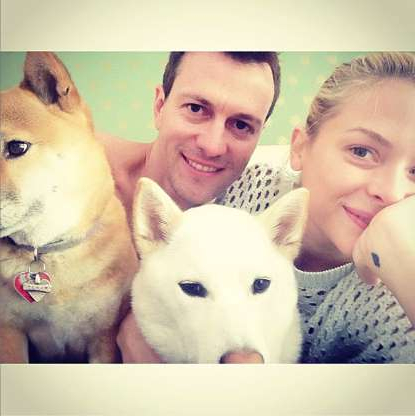 "Slide 21 of 47: Make room! The Hart of Dixie actress wrote via Instagram in May 2013 that she and director husband Kyle Newman were expanding their family in an adorable picture with their two dogs. ""Getting ready for another baby to be squeezed into this picture,"" the former model wrote."