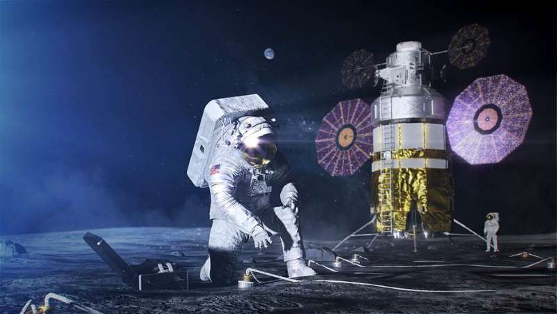This illustration give an idea of how mobile the new spacesuits will be. NASA