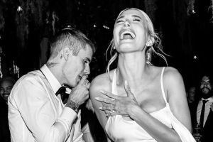 The First Full Look at Hailey Baldwin's Vera Wang Wedding Reception Dress Is Here