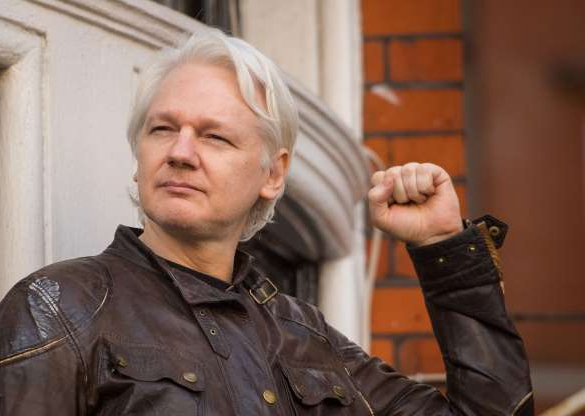 Slide 1 of 24: File photo dated 19/05/17 of Julian Assange, as his lawyers are taking a case to court, arguing that a UK arrest warrant against him has