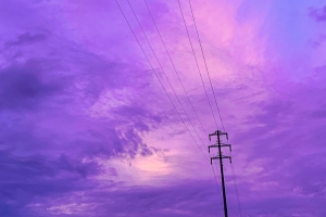 The sky turned a deep purple before Typhoon Hagibis hit the coast of Japan