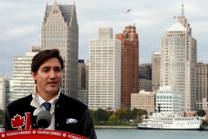Canada's Trudeau, in tight election fight, says only he can stand up to Trump
