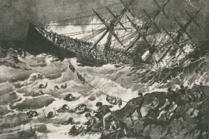 Students sleuthing boundaries of mass grave of 1873 shipwreck victims
