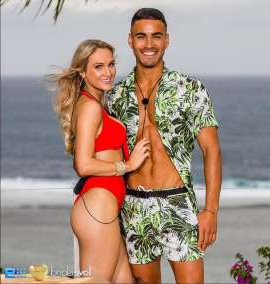 a person in a swimsuit on a beach: Maurice was taken with Jessie as soon as he saw her...and the two even sealed the deal with the first kiss of the season!                   (Image: Nine Network)