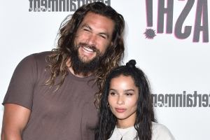 Aquaman star Jason Momoa 'freakin' stoked' his stepdaughter Zoë Kravitz is the new Catwoman