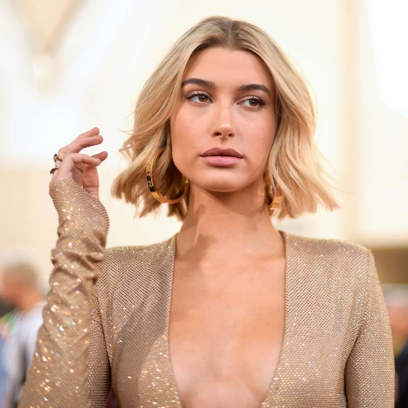 Hailey Baldwin posing for a picture: Hint: You don't necessarily need to be at a gym to use this equipment.