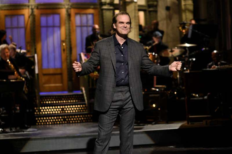 Host David Harbour during the monologue on Saturday, October 12, 2019