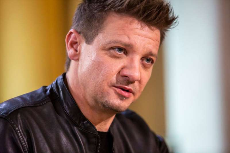 Jeremy Renner on April 28, 2019