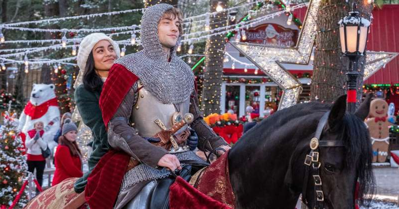Josh Whitehouse, Vanessa Hudgens are posing for a picture: A Christmas Prince 3! Klaus! All the Original Holiday Movies and Shows Coming to Netflix