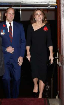 Slide 67 of 179: LONDON, ENGLAND - NOVEMBER 10: Prince William, Duke of Cambridge and Catherine, Duchess of Cambridge attend the Royal British Legion Festival of Remembrance at the Royal Albert Hall on November 10, 2018 in London, England. The Queen and members of the Royal Family are attending the annual Festival of Remembrance to commemorate all those who have lost their lives in conflicts and will mark 100 years since the end of the First World War.  (Photo by Chris Jackson/Getty Images)