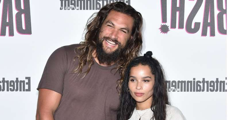 Zoe Kravitz, Jason Momoa are posing for a picture: 'Aquaman' star Jason Momoa 'freakin' stoked' his stepdaughter Zoë Kravitz is the new Catwoman