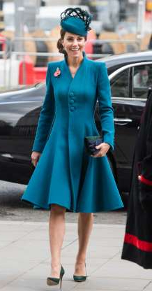 Slide 37 of 183: LONDON, ENGLAND - APRIL 25: Catherine, Duchess of Cambridge attends the ANZAC Day Service of Commemoration and Thanksgiving at Westminster Abbey on April 25, 2019 in London, United Kingdom. (Photo by Samir Hussein/Samir Hussein/WireImage)