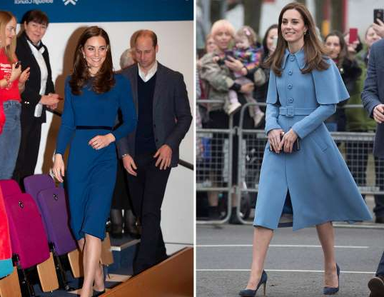 Slide 47 of 183: Britain's Catherine, Duchess of Cambridge arrives for a walkabout outside the Braid Centre in Ballymena, Northern Ireland February 28, 2019. Stephen Lock/Pool via REUTERS; Prince William and Catherine Duchess of Cambridge visit to Northern Ireland - 28 Feb 2019