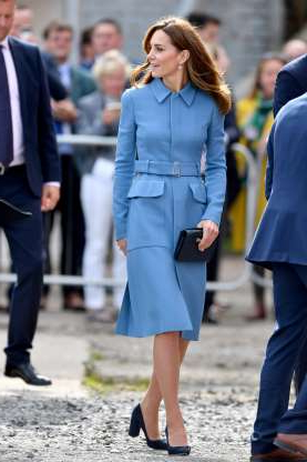 Slide 9 of 183: BIRKENHEAD, ENGLAND - SEPTEMBER 26: Catherine, Duchess of Cambridge attend the naming ceremony for The RSS Sir David Attenborough on September 26, 2019 in Birkenhead, England. (Photo by Anthony Devlin/Getty Images)