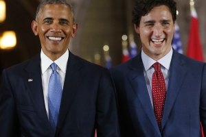 Obama endorses Trudeau days before Canadian election