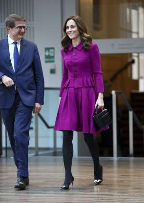 Slide 58 of 184: LONDON, ENGLAND - JANUARY 16:  Catherine, Duchess of Cambridge visits The Royal Opera House on January 16, 2019 in London, England to learn more about their use of textiles, commissioning of fabrics and supply chain.  (Photo by Tim P. Whitby/Getty Images)
