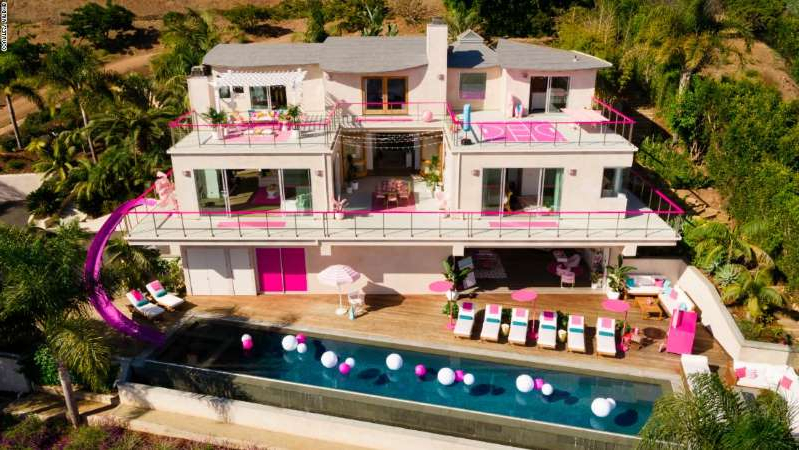 You can rent Barbie's Malibu Dreamhouse for $60 per night