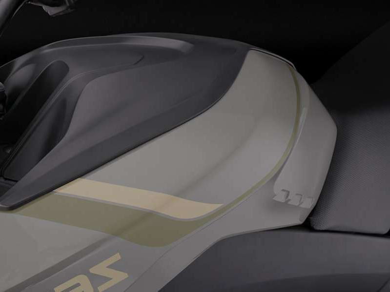 a close up of a car: With the addition of the optional Zero Power Tank, the range of the DSR Black Forest approaches 200 miles. The Power Tank is available for almost every current Zero model as well.