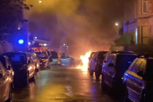 Car fireball horror in Shawlands street after 'youths set off fireworks underneath vehicles'