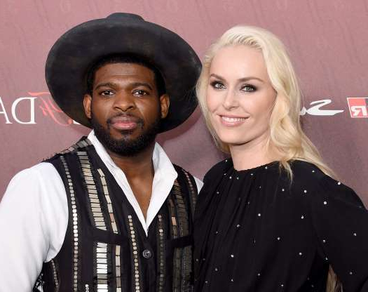 Slide 11 of 60: LOS ANGELES, CA - JULY 18:  Lindsey Vonn and P.K. Subban arrive at the Sports Illustrated Fashionable 50 at The Sunset Room on July 18, 2019 in Los Angeles, California.  (Photo by Gregg DeGuire/FilmMagic)