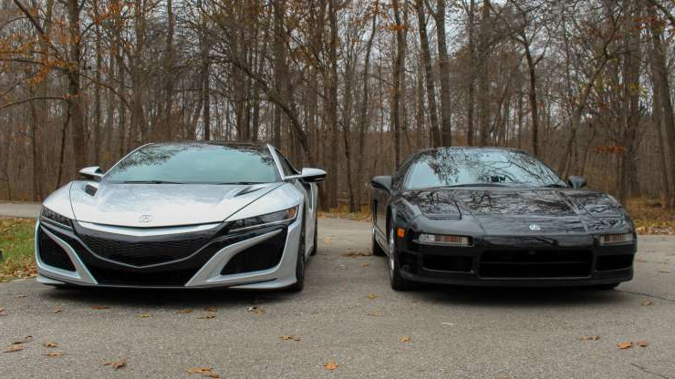 Slide 12 of 45: Old meets new: Looking at the 2019 NSX and 1991 NSX side-by-side.