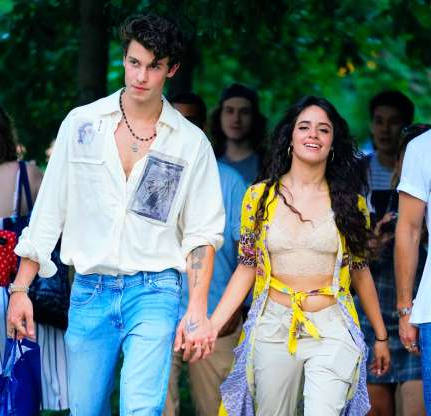 Slide 18 of 60: NEW YORK, NY - AUGUST 08:  Camila Cabello and Shawn Mendes are seen on his 21st birthday on August 8, 2019 in New York City.  (Photo by Gotham/GC Images)