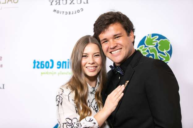 Slide 21 of 60: BEVERLY HILLS, CALIFORNIA - MAY 04: Chandler Powell and Bindi Irwin attend the Steve Irwin Gala Dinner at SLS Hotel on May 04, 2019 in Beverly Hills, California. (Photo by John Wolfsohn/Getty Images)