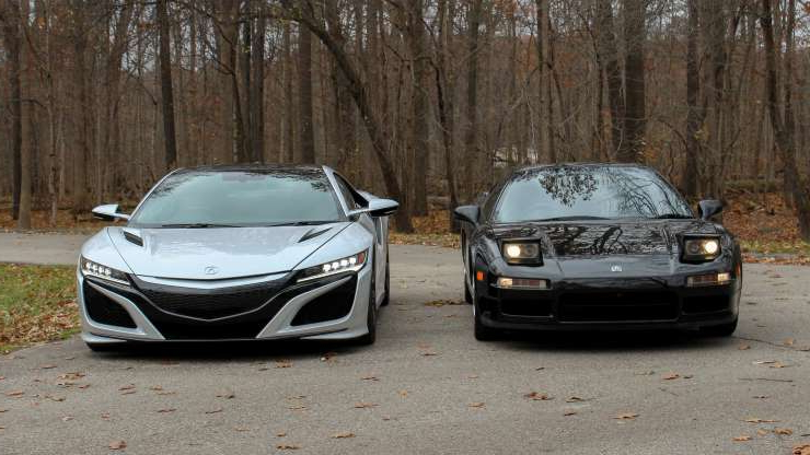 Slide 22 of 45: Old meets new: Looking at the 2019 NSX and 1991 NSX side-by-side.