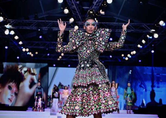 Slide 23 of 30: NEW DELHI, INDIA - OCTOBER 12: Manish Arora's collection at Lotus Make-Up India Fashion Week's Spring Summer 2020 Finale presented by the FDCI on October 12, 2019 in New Delhi, India. (Photo by Rubina A. Khan/Getty Images)