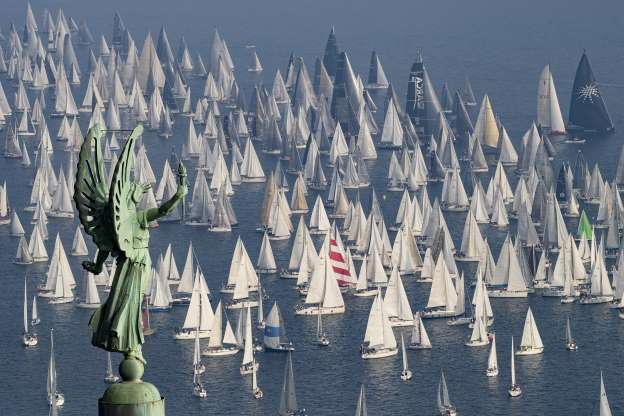 Slide 8 of 30: Sailing boats take part in the 51th edition of the traditional