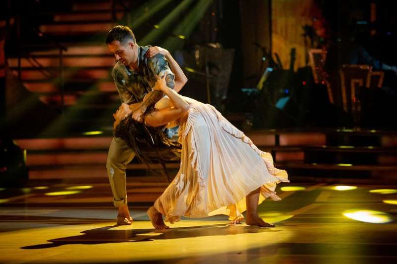 a person wearing a costume: Will Bayley and partner Janette Manrara moved the judges to tears