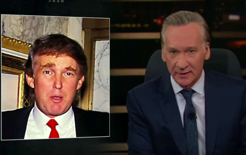 Bill Maher, Donald Trump are posing for a picture: Real Time/YouTube