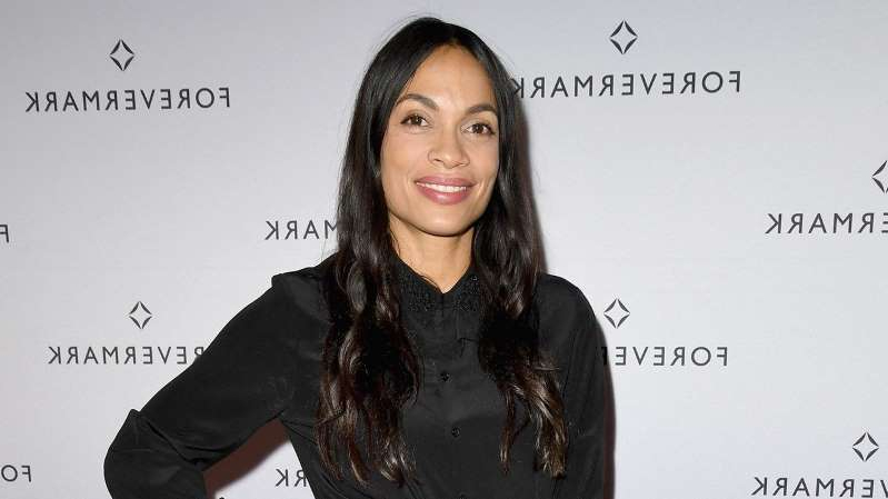 Rosario Dawson with collar shirt