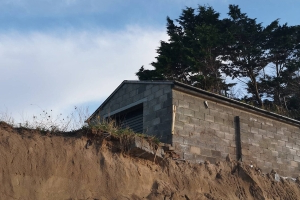 Swept by the sea: Dublin woman's home falls onto beach from coastal erosion and now her dad's house is at risk