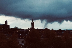 'Twister' spotted rolling across Glasgow sky