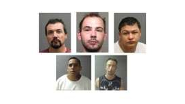 a man posing for a photo: Five men from Kamloops, B.C. are charged with second degree murder in the death of Troy Gold. From left to right: Nathan Anthony Townsend, 23, Sean Gavril Scurt, 46, Darian Fredrick Rohel, 44, John Wade Daviss 38, and Jayden Michael Eustache, 24.