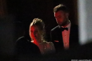 And the bride wore sparkles! First look at Jennifer Lawrence and Cooke Maroney as a married couple as they leave their haunted Rhode Island castle wedding venue after partying with A-list guests including Sienna Miller and Kris Jenner until 5.30am