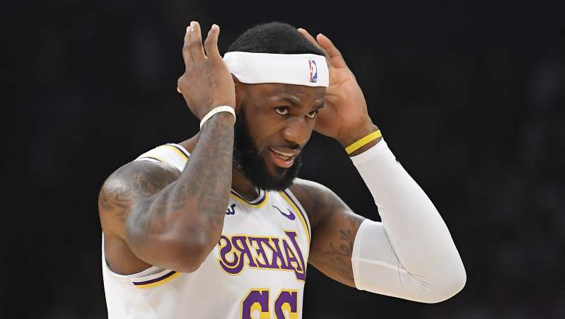 LeBron James wearing a hat: Associated Press