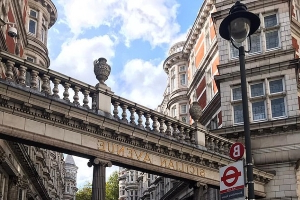 Police arrest two men after officers find 'semi-conscious woman' who was raped on central London's famous Sicilian Avenue at 3.40am